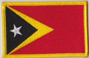 East Timor Embroidered Flag Patch, style 08.